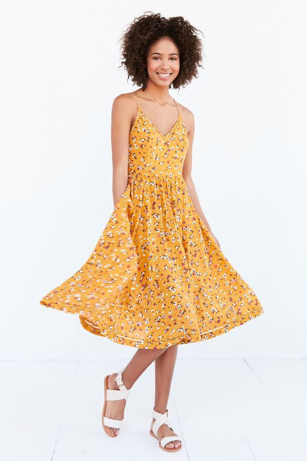 012e15a39dcd Kimchi Blue Cindy Ladder Lace Midi Dress urban outfitters dresses