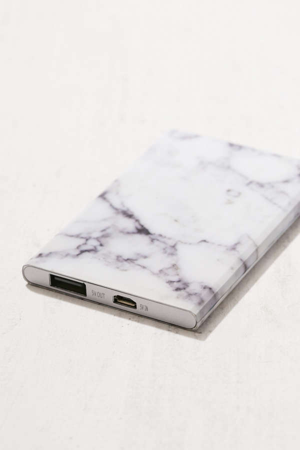 Slim Marble Portable Power Charger Urban Outfitters