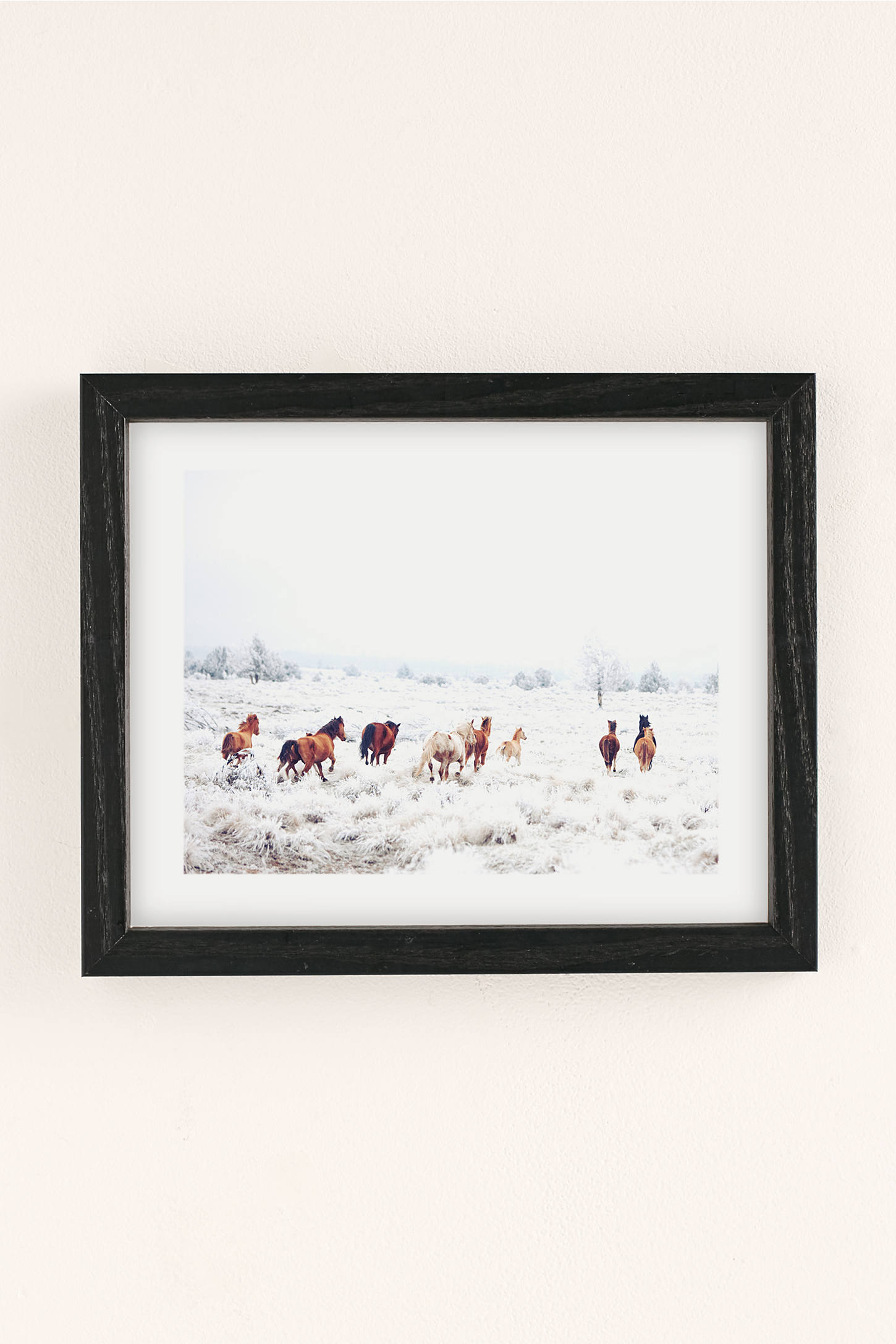 kevin russ winter horses art print urban outfitters