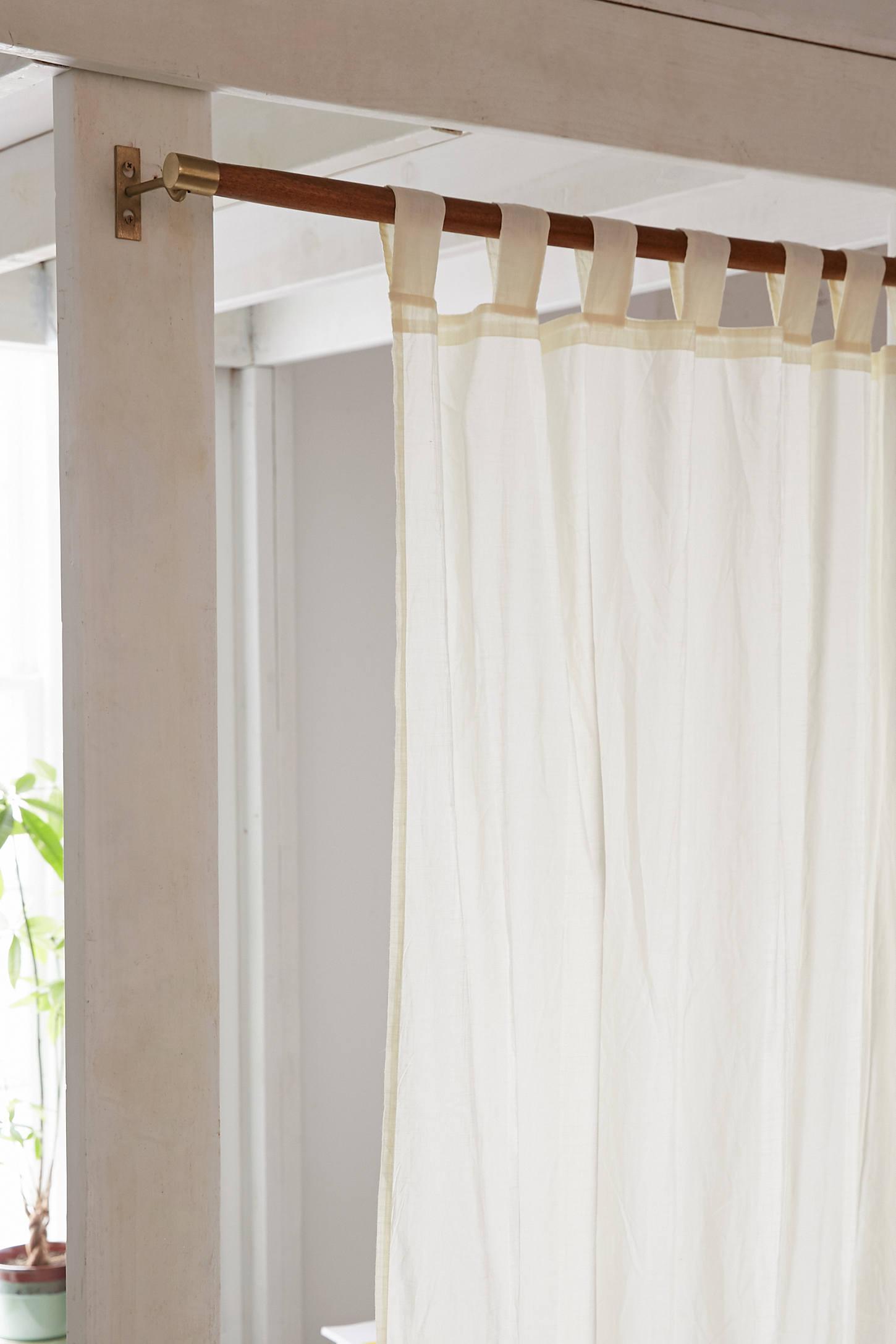 Modern wood curtain rod - Slide View 1 Mid Century Modern Wooden Curtain Rod
