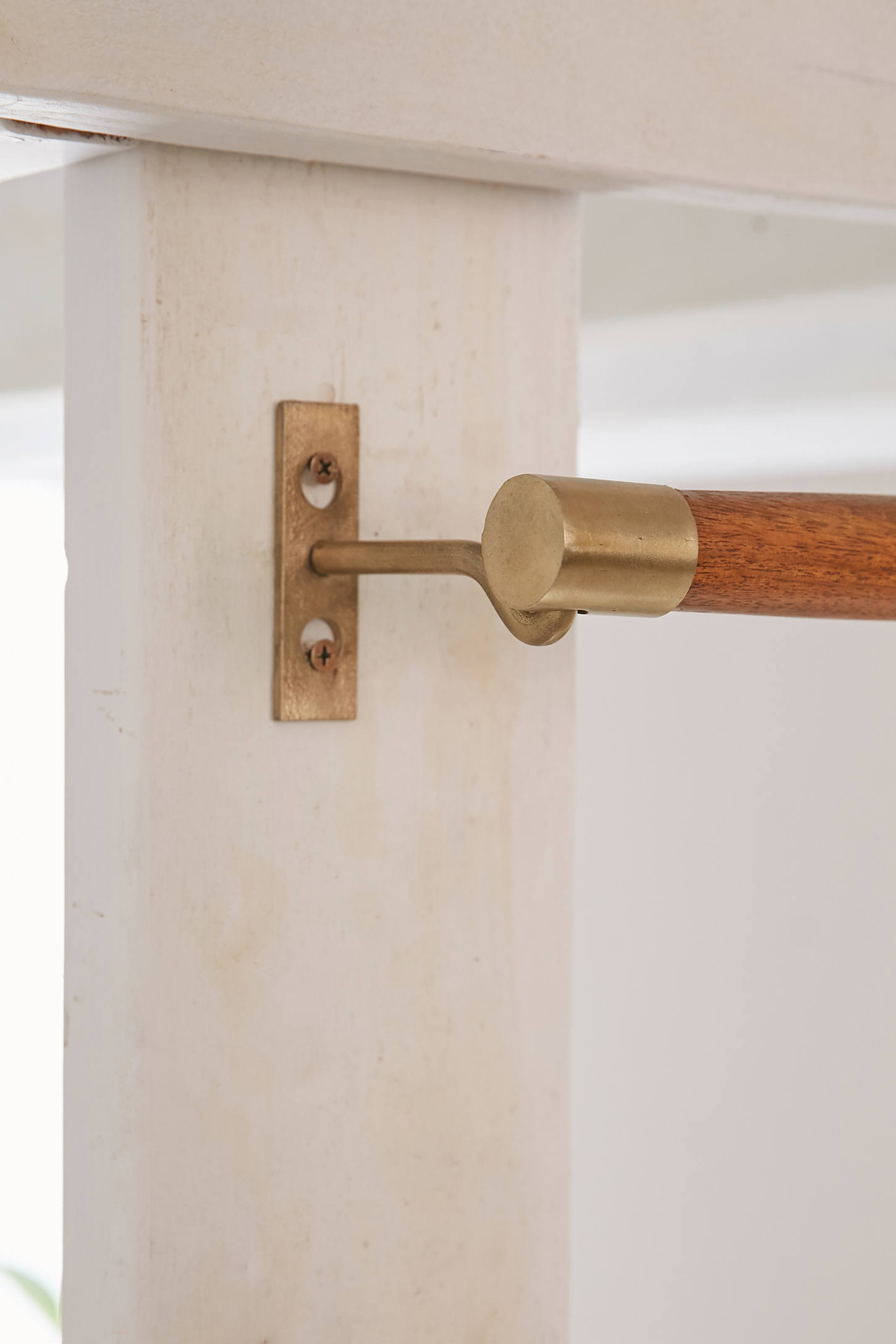 Modern wood curtain rod - Slide View 2 Mid Century Modern Wooden Curtain Rod