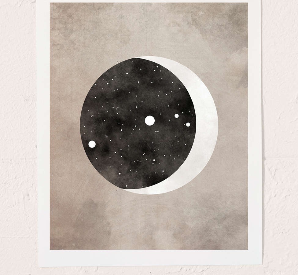 Slide View: 2: Claire Goodchild Moon & Stars Aries Art Print