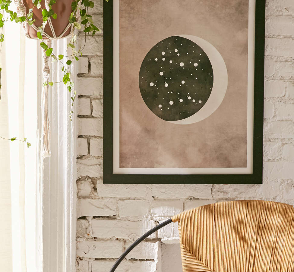 Slide View: 1: Claire Goodchild Moon & Stars Gemini Art Print