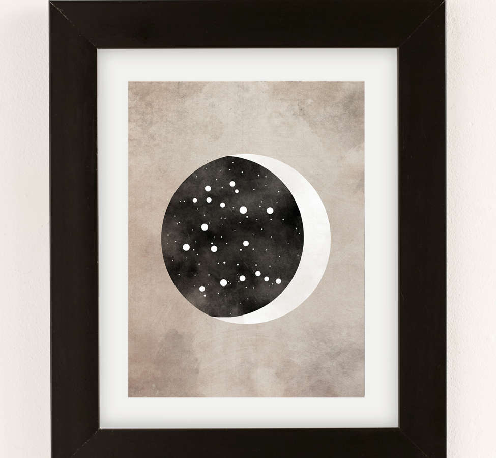 Slide View: 2: Claire Goodchild Moon & Stars Gemini Art Print