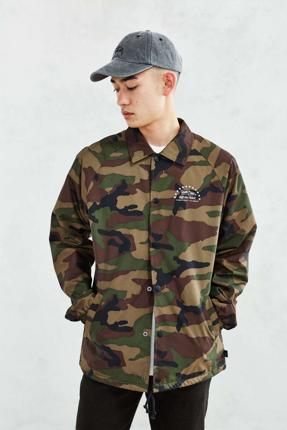 Vans Torrey Camo Coaches Jacket Urban Outfitters