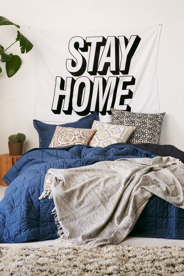 Stay Home Text Tapestry – Urban Outfitters Business Plan