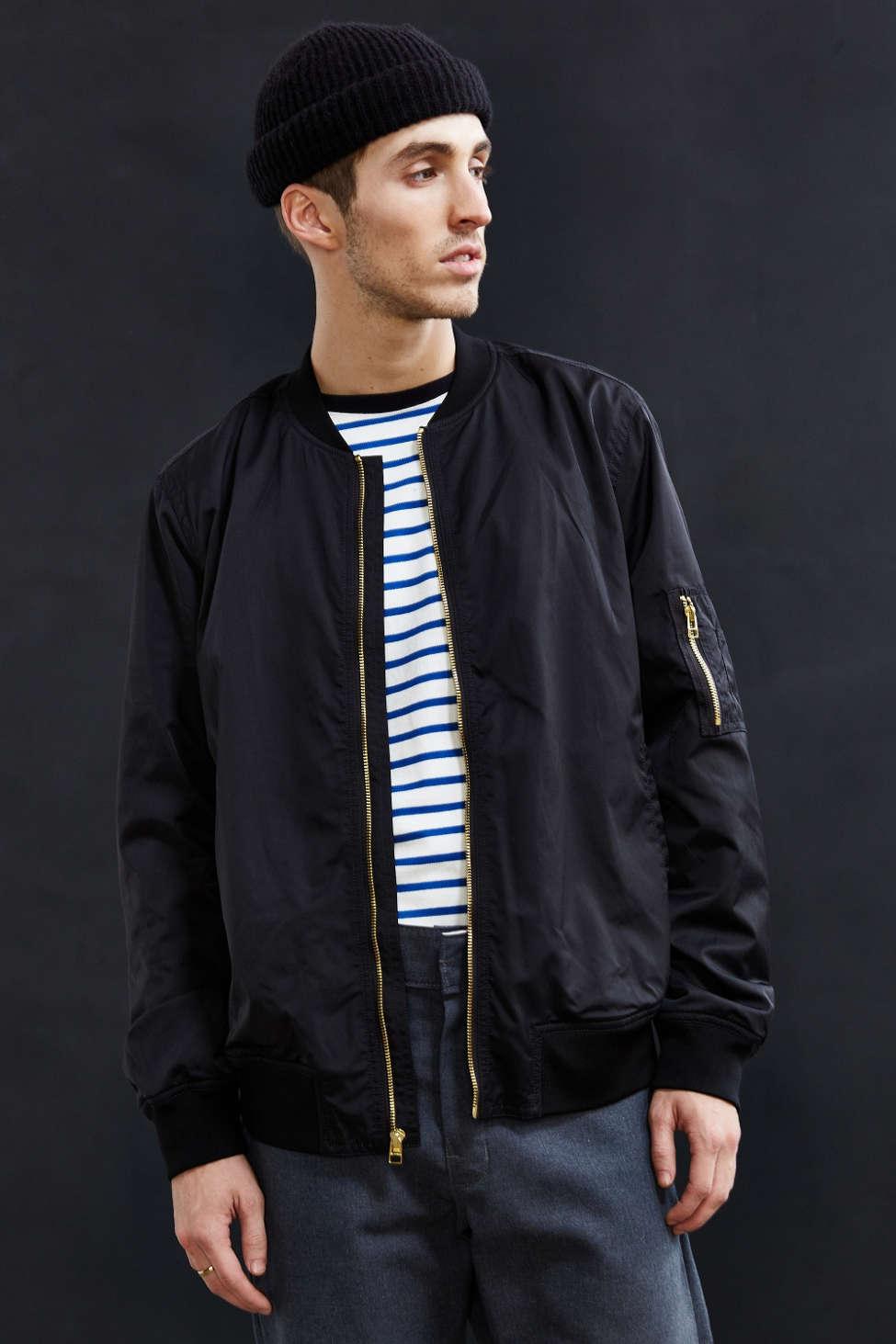 CPO Nylon Bomber Jacket | Urban Outfitters