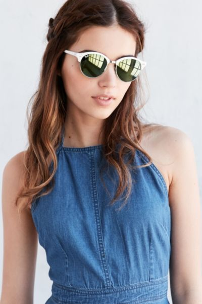 Ray-Ban Clubround Sunglasses - White One Size at Urban Outfitters