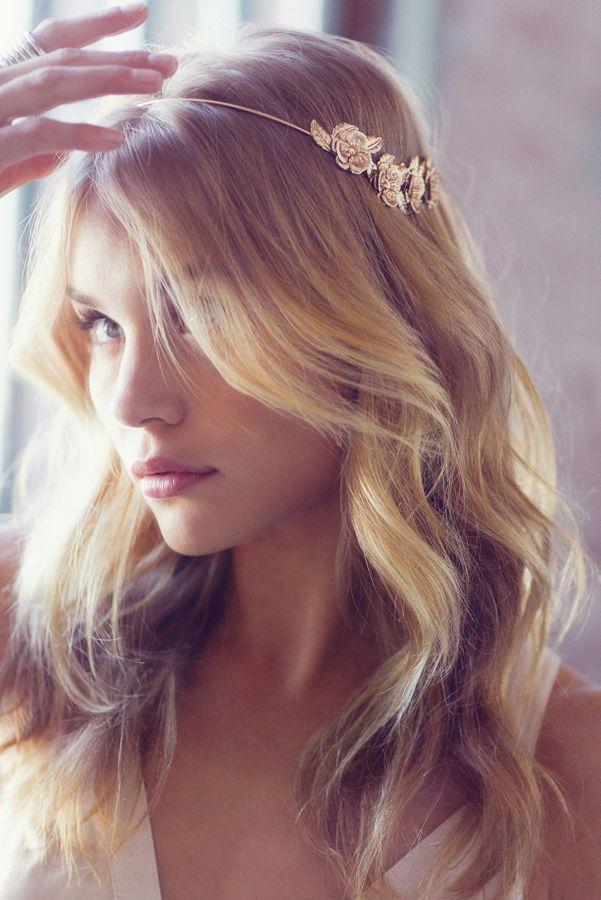Golden Flower Halo Headband Urban Outfitters