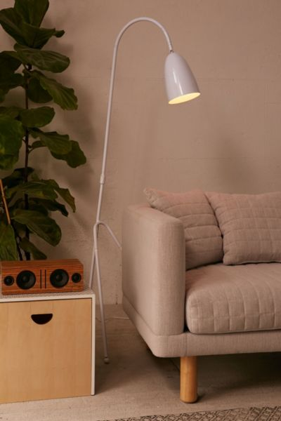 Inez Floor Lamp - White One Size at Urban Outfitters