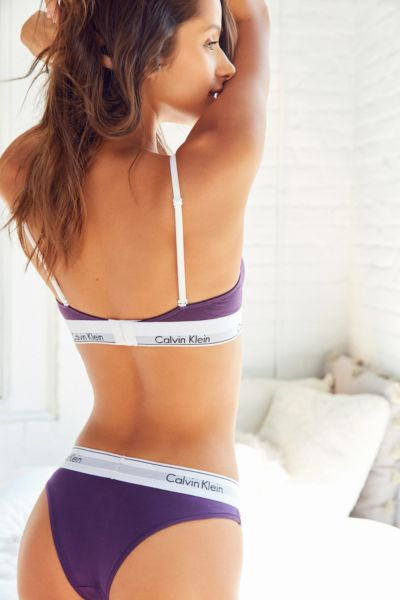 Calvin Klein Modern Cotton Tanga - Purple S at Urban Outfitters