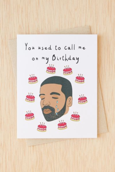 drake birthday card urban outfitters
