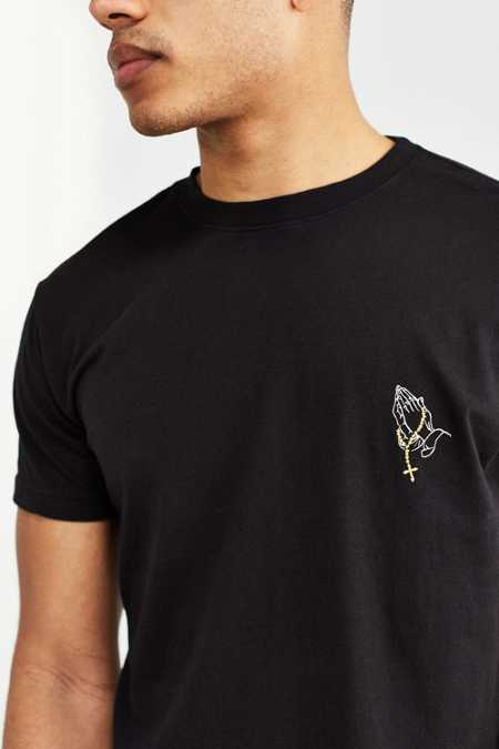 Embroidered Praying Hands Tee