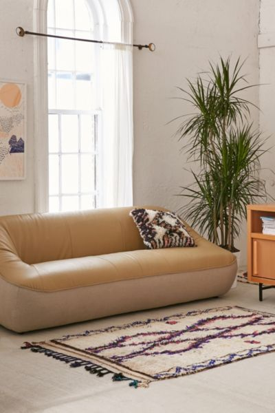 Leia Mixed Leather Sofa Urban Outfitters