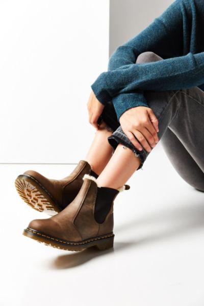 Dr. Martens Faux Fur-Lined Leonore Chelsea Boot