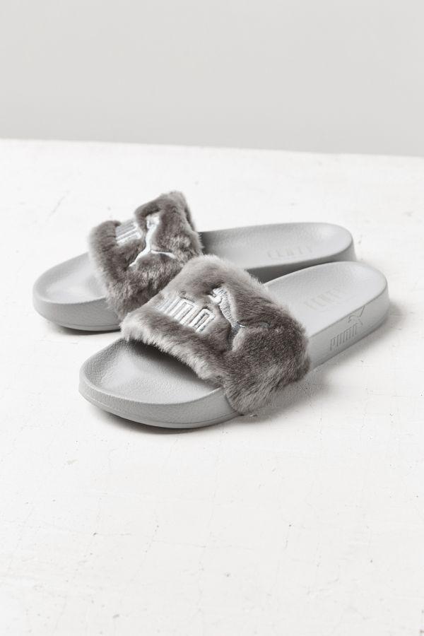 c9e34c696e24 Puma Fenty by Rihanna Leadcat Faux Fur Slide