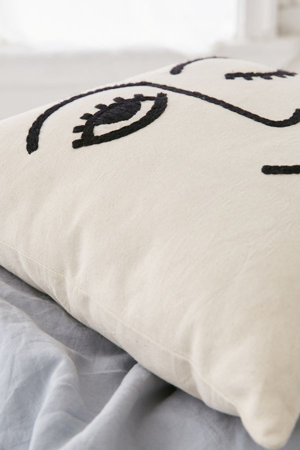 Slide View: 4: Winky Embroidered Pillow