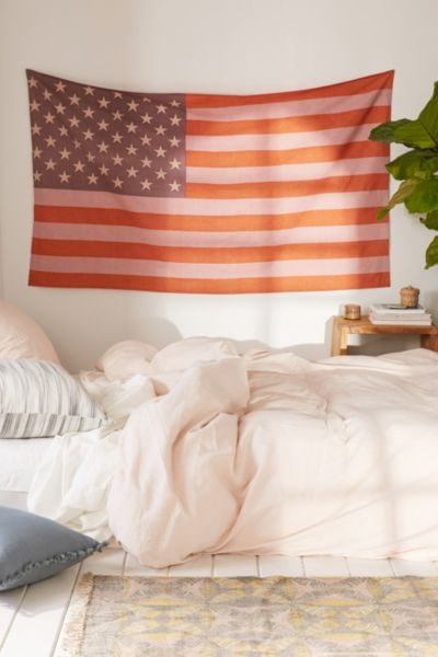 Small American Flag Tapestry