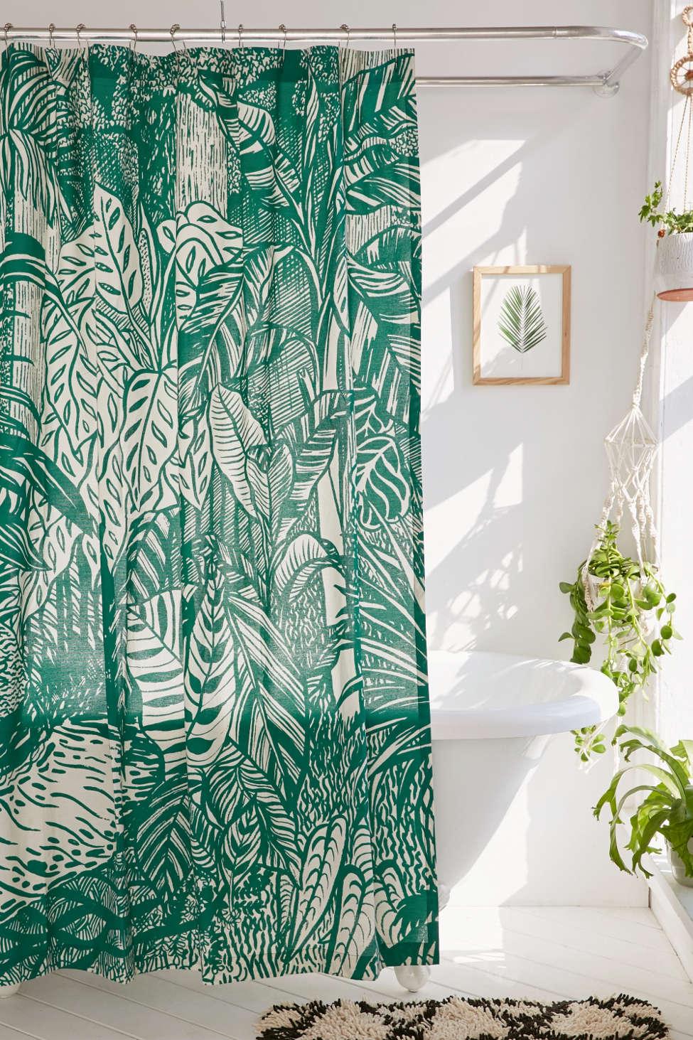 Slide View: 1: Saskia Pomeroy Plants Shower Curtain
