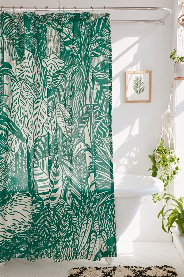 Slide View 1 Saskia Pomeroy Plants Shower Curtain