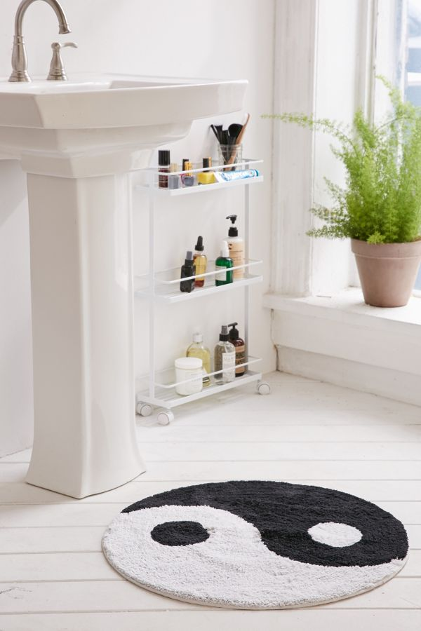 Yin Yang Bath Mat Urban Outfitters - Bathroom outfitters