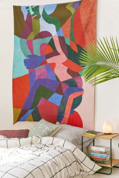 Ines Longevial Abstract Art Tapestry - Multi One Size at Urban Outfitters