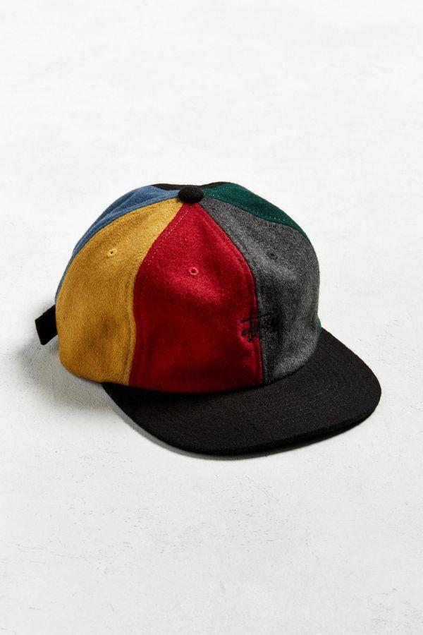 Stussy Multicolor Melton Wool Strapback Hat f8b6e658aca