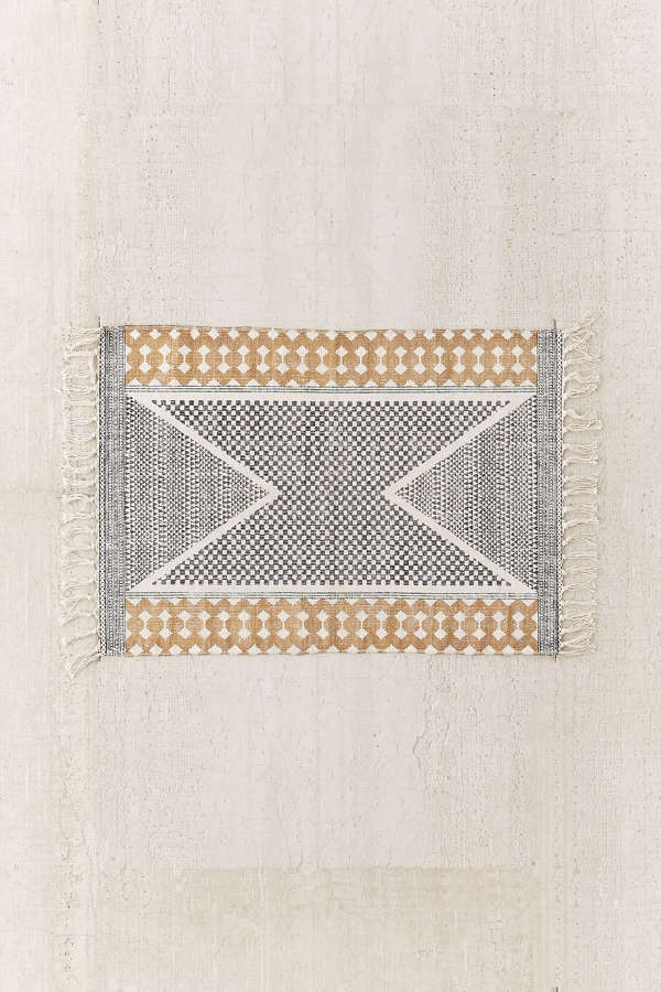 Urban Outfitters Rugs Size Calisa Block Printed Rug Urban