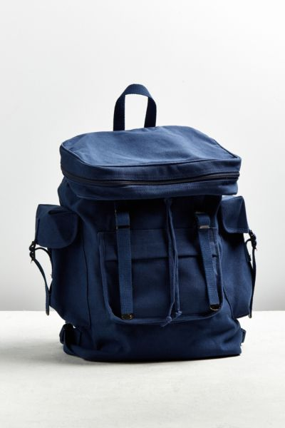 Rothco Basic Rucksack Backpack - Navy One Size at Urban Outfitters