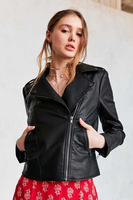 BDG Shrunken Vegan Moto Jacket