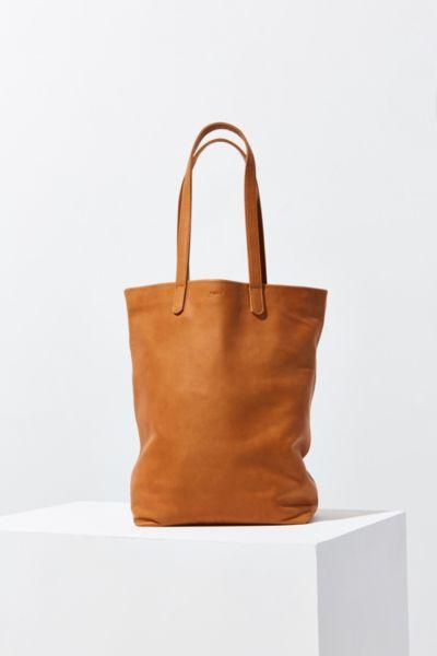 BAGGU Basic Leather Tote Bag