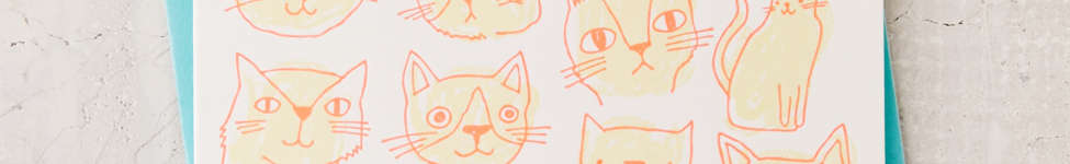 Thumbnail View 1: The Good Twin Cats And Cake Birthday Card