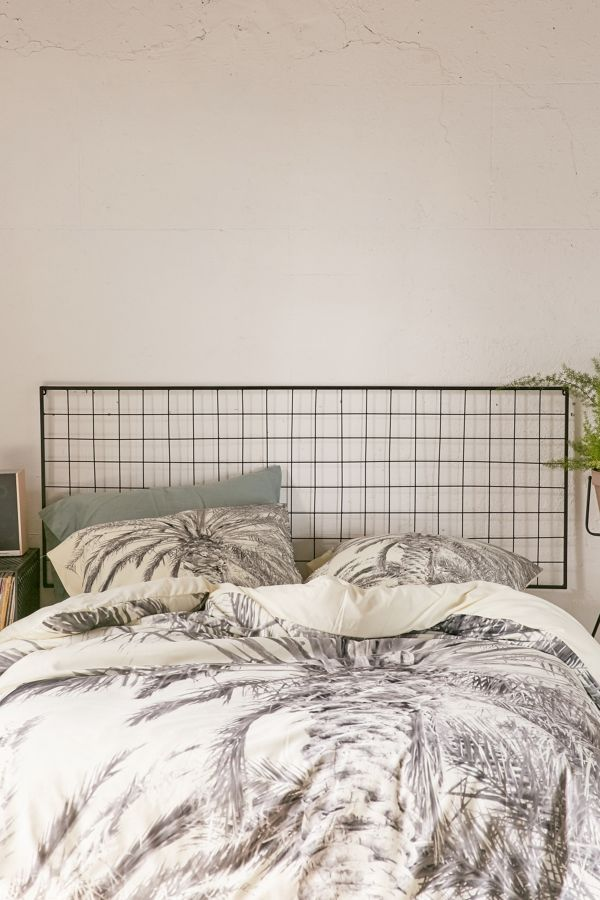 Slide View 1 Grid Metal Headboard