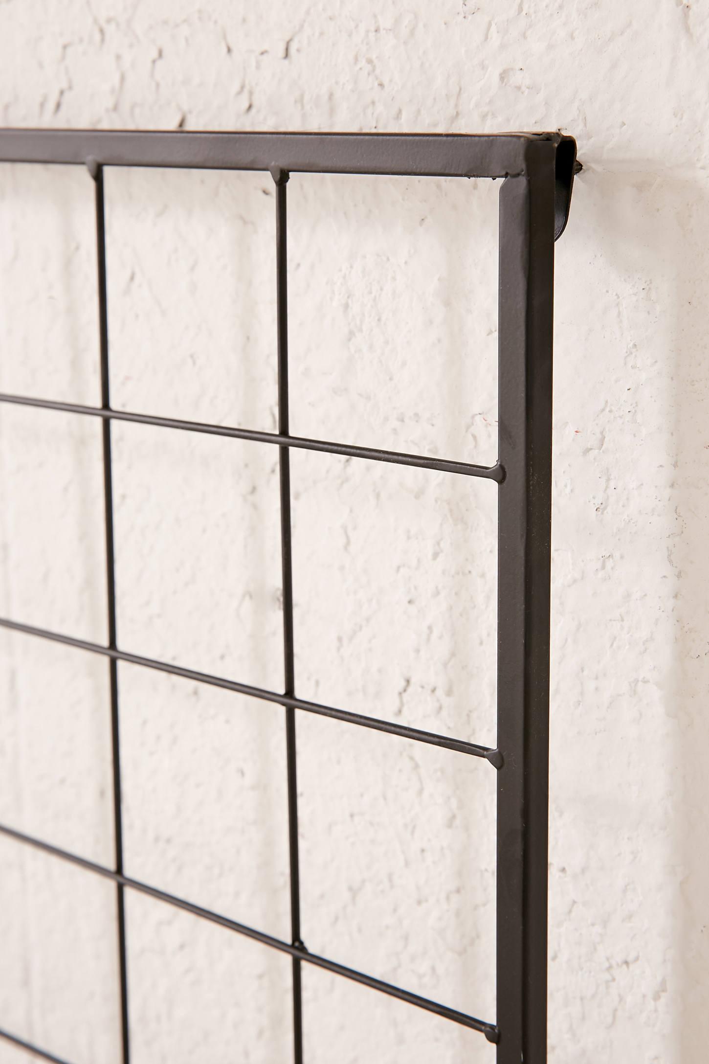 Metal Grid Wall grid metal headboard | urban outfitters