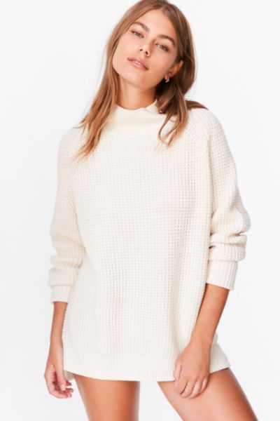 Bdg Waffle Knit Turtleneck Sweater Urban Outfitters