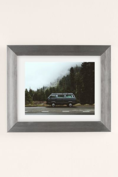 Kevin Russ Foggy Rainer Camper Art Print - Silver One Size at Urban Outfitters