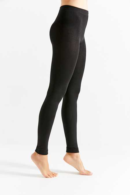 Faux Fur-Lined Cozy Footless Tight
