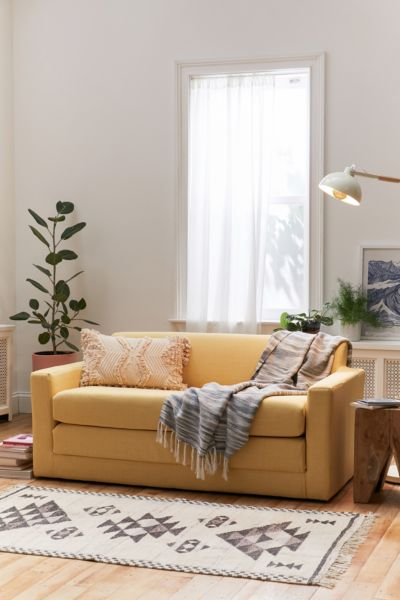 Anywhere Sleeper Sofa - Cream One Size at Urban Outfitters