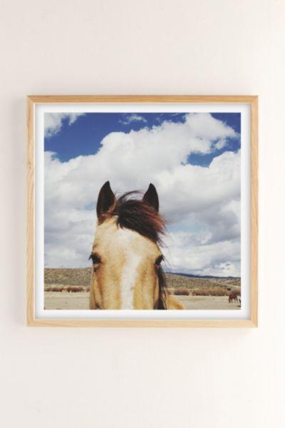 Kevin Russ Cloudy Horse Head Art Print - Neutral 12