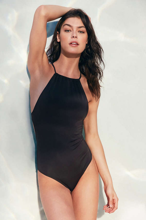 Out From Under High Neck One-Piece Swimsuit