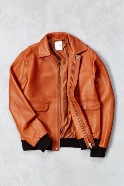 Wood Wood Dean Leather Jacket