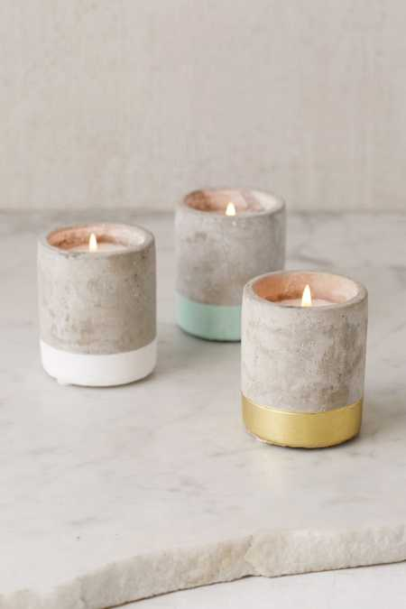 Small Concrete Candle