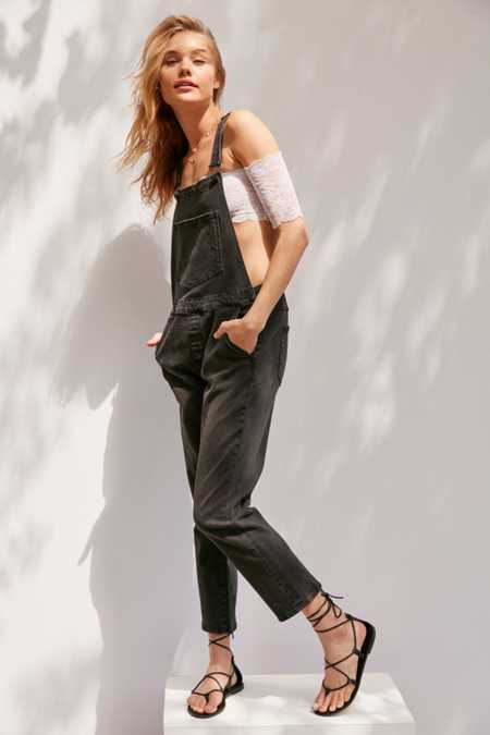 BDG Slim Crop Overall - Black