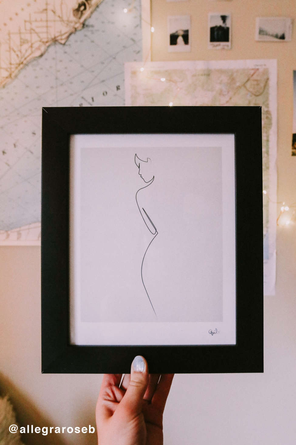 Slide view 1 quibe one line nude art print