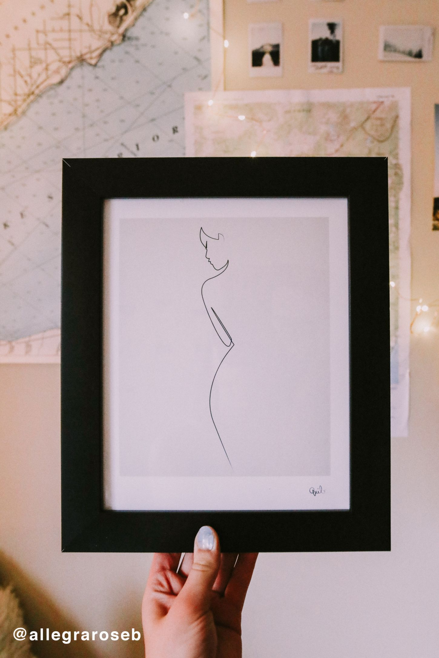 Wall decals art prints urban outfitters quibe one line nude art print amipublicfo Gallery