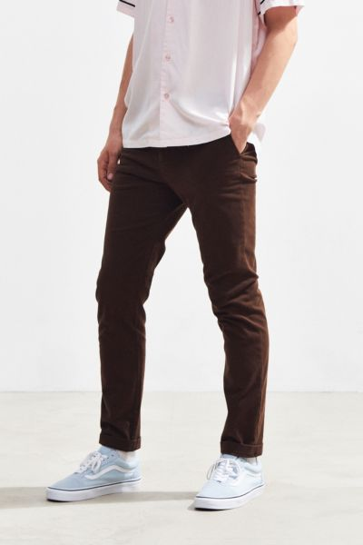 UO Easton Skinny Stretch Chino Pant - Brown 28W 30L at Urban Outfitters