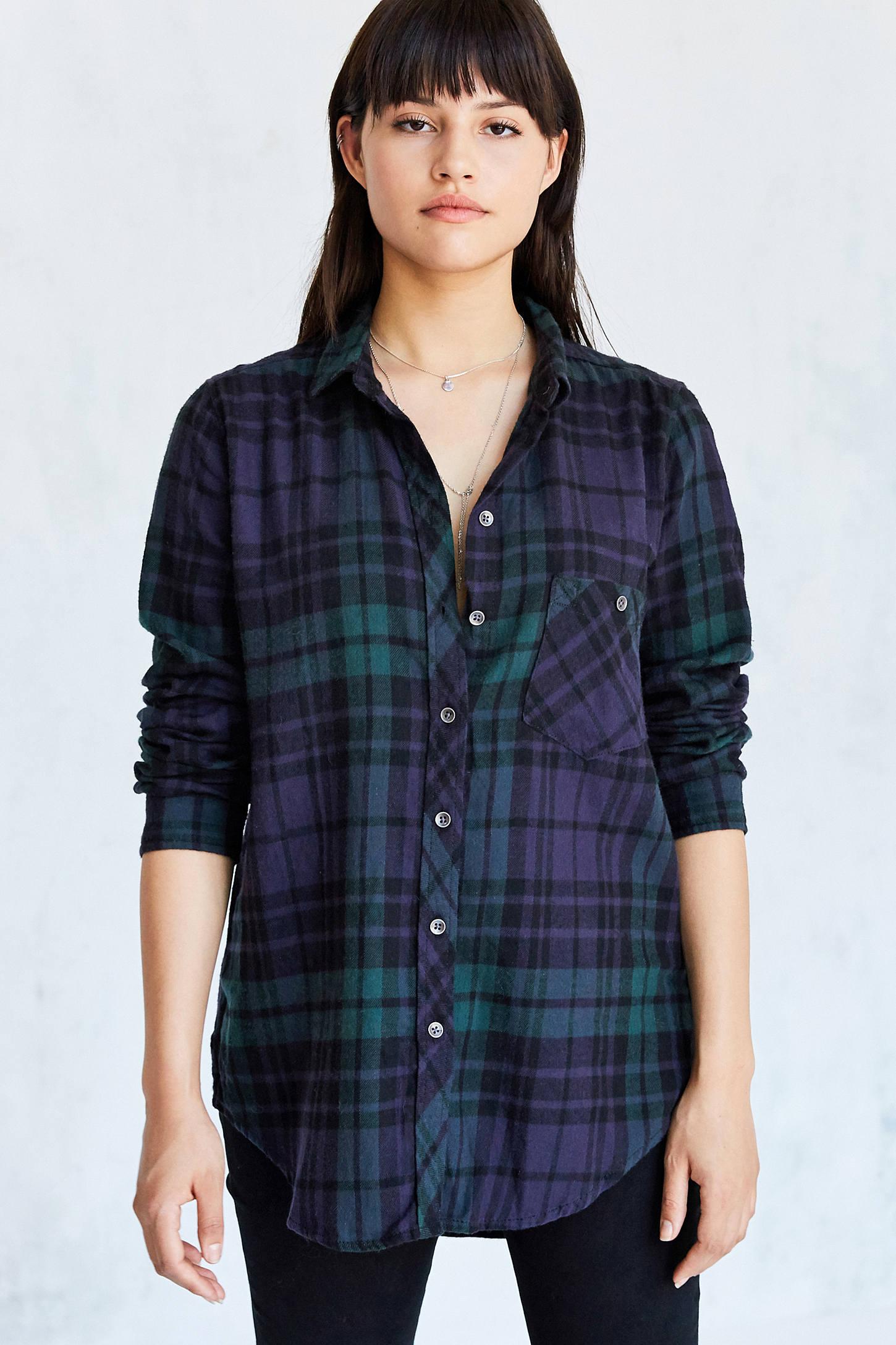 Shirt design female - Slide View 1 Bdg Polly Flannel Button Down Shirt