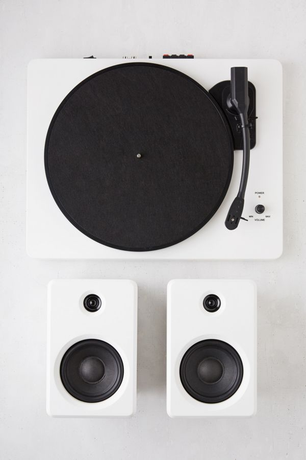 Ep 33 Bluetooth Turntable With Speakers White Urban