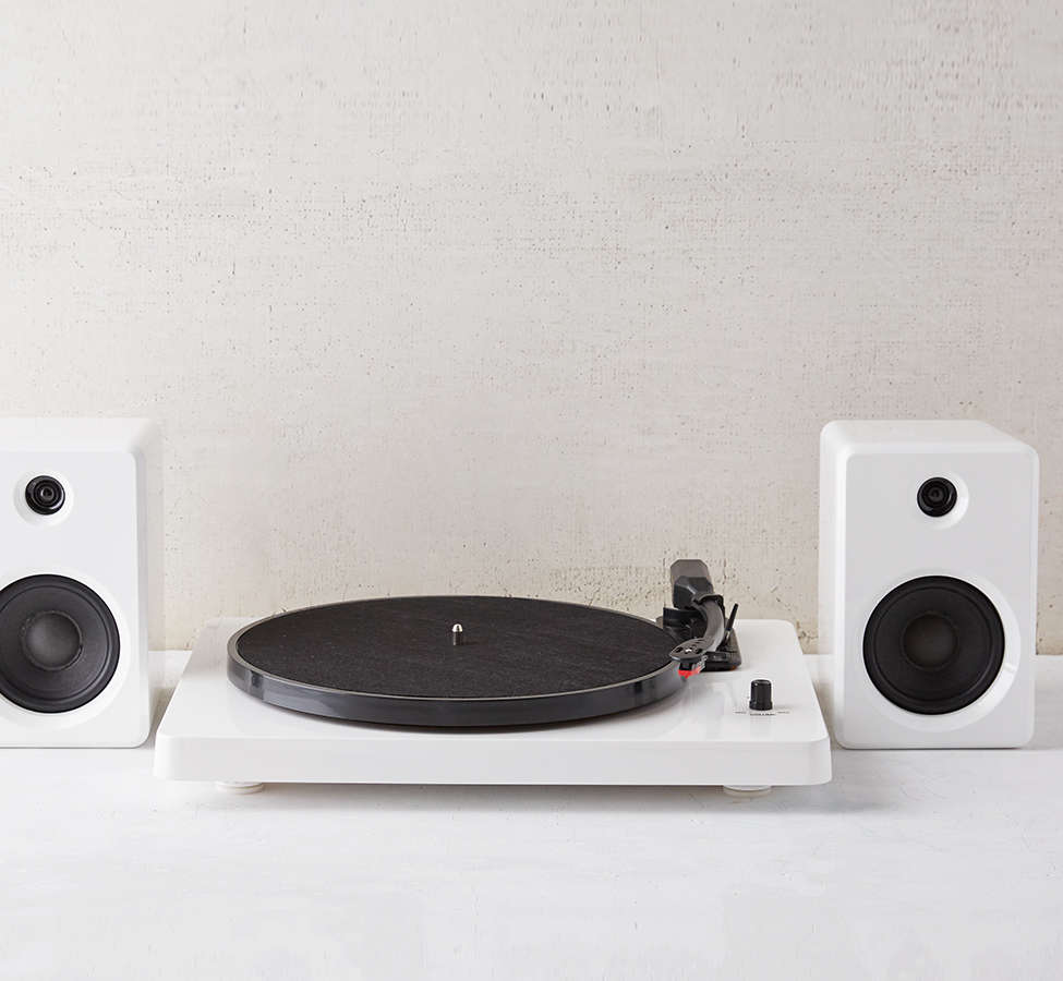 Slide View: 2: EP-33 Bluetooth Turntable With Speakers - White