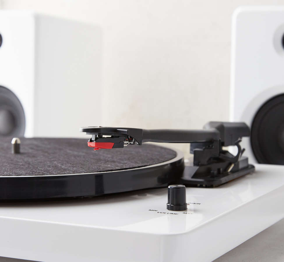 Slide View: 4: EP-33 Bluetooth Turntable With Speakers - White